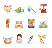 Pet related vector icons for your design and application.
