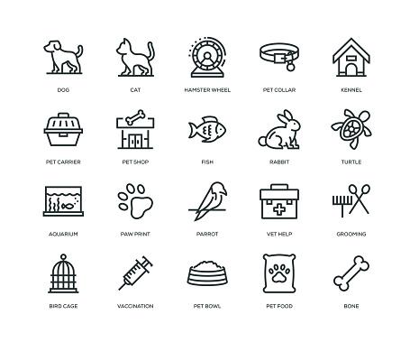 Pet Icons - Line Series