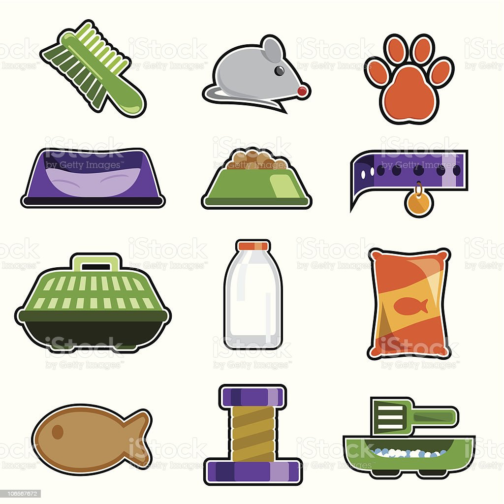 Pet Icons royalty-free pet icons stock vector art & more images of animal