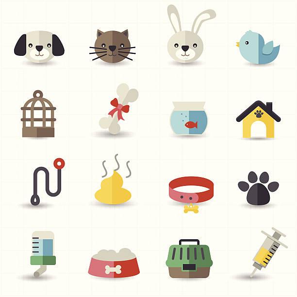 haustier symbole - hundehalsbänder stock-grafiken, -clipart, -cartoons und -symbole