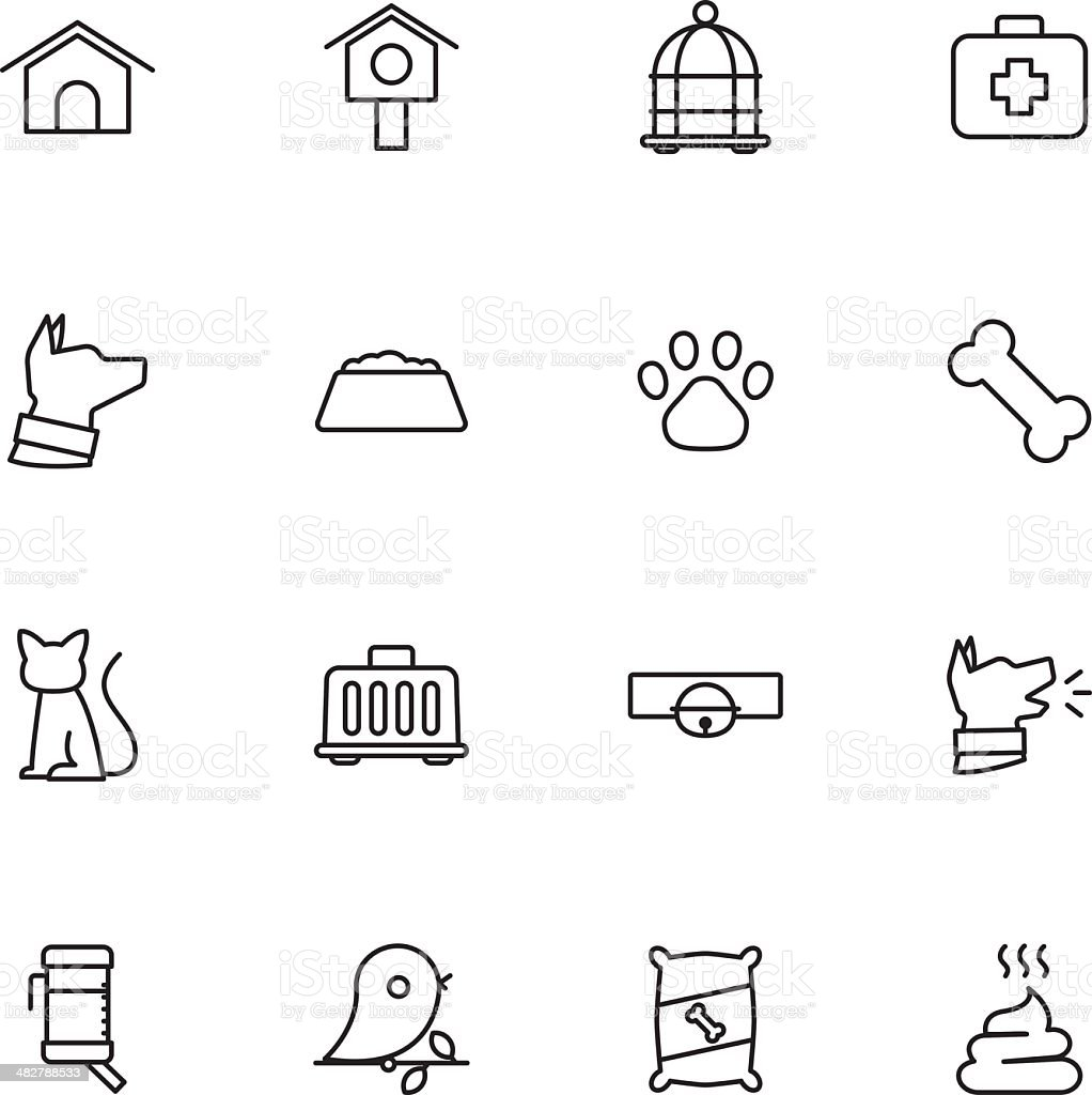 Pet icons royalty-free stock vector art
