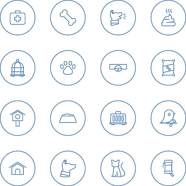 pet icons - dog treats stock illustrations