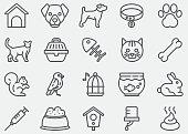 Pet Line Icons