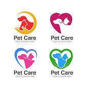 pet love symbols design. pet care symbols design