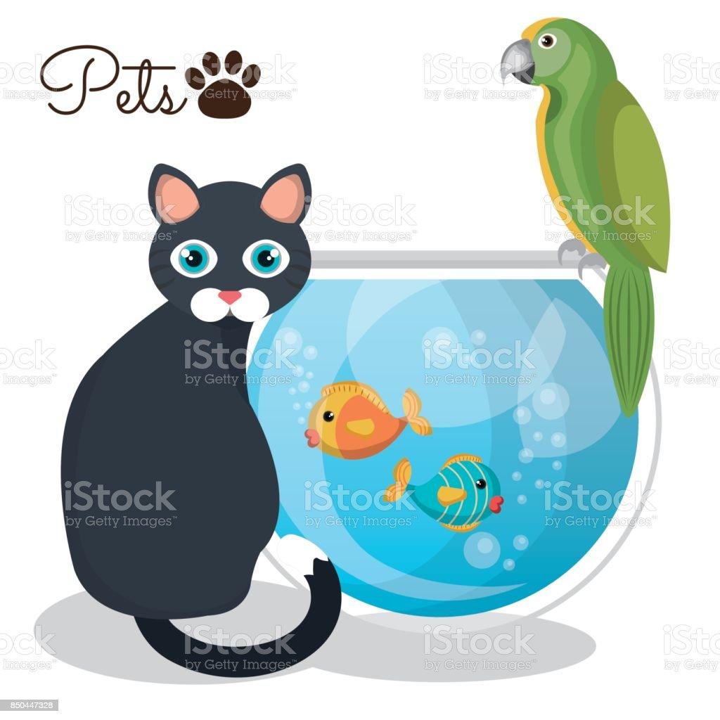 pet mascot isolated icon vector art illustration