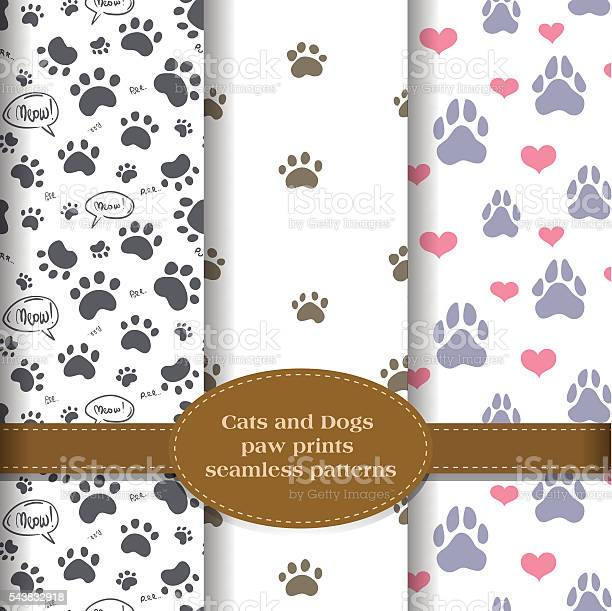 Pet paw prints patterns set vector id543832918?b=1&k=6&m=543832918&s=612x612&h=gmxg 0nl73tan kfe7l 8ipgxuhm1a9pjepqlo7opjq=
