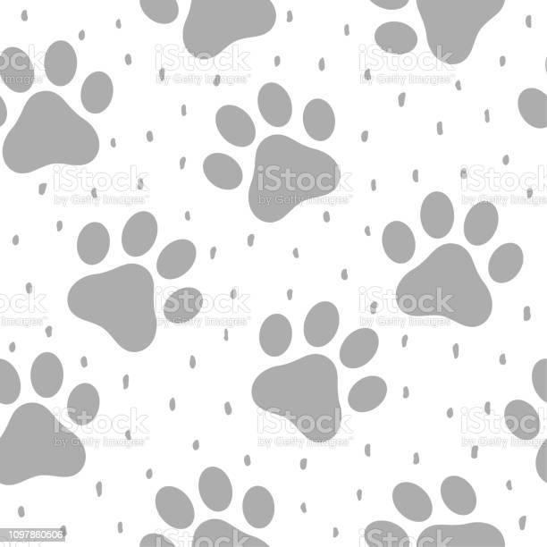 Pet paw seamless pattern background vector id1097860506?b=1&k=6&m=1097860506&s=612x612&h=8msfxvrceeh7kspz hqfze 9wt3ttacsf41has9qmma=