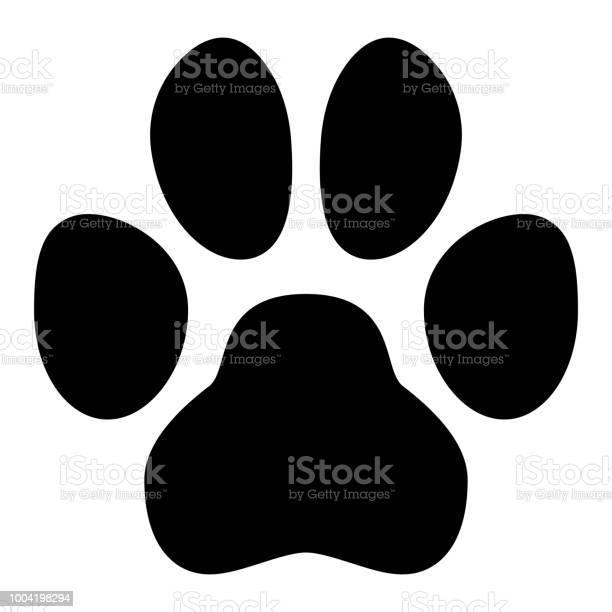 Pet paw symbol simple black dog or cat footprint shape vector id1004198294?b=1&k=6&m=1004198294&s=612x612&h=kx8shxyk5zrekyiy5bgfu57f4txps9p4ehs8ut5w2se=