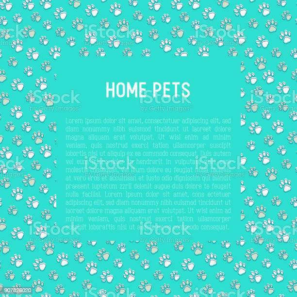 Pet paws concept with place for text thin line vector illustration vector id907826020?b=1&k=6&m=907826020&s=612x612&h=pmr20y7a8akd cc9bul81u6ld a8egprfedvgtu0eb0=