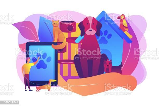 Pet services concept vector illustration vector id1168019344?b=1&k=6&m=1168019344&s=612x612&h=wzygkno2zmq5czokydy8g764todeyovmg osjulzqyk=