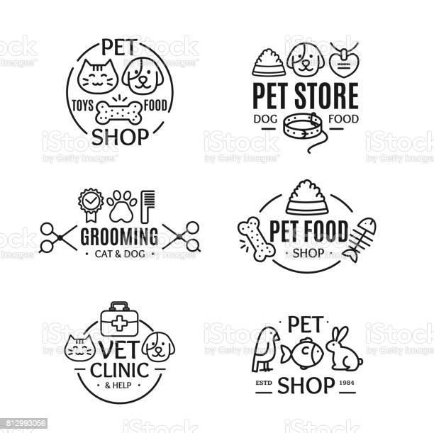 Pet shop badges or labels line art set vector vector id812993056?b=1&k=6&m=812993056&s=612x612&h=rvqrxwyfseyvdy1zk9 ymudt2la5sglofwzx juhcf8=