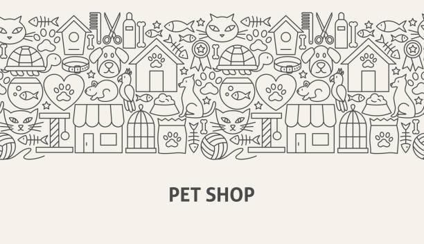 ペット ショップ バナーのコンセプト - ペットショップ点のイラスト素材/クリップアート素材/マンガ素材/アイコン素材