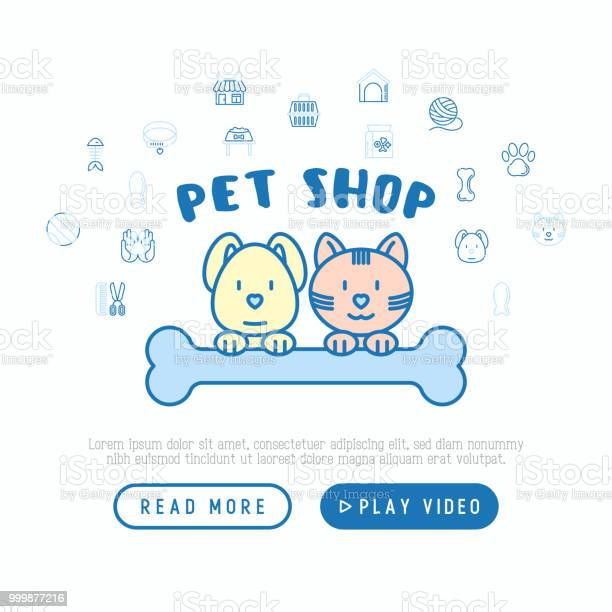 Pet shop concept cat and dog hug bone with thin line icons around vector id999877216?b=1&k=6&m=999877216&s=612x612&h=8dn4e16881wxsrqfquoiex1dpc8etvndar8lfykbdoi=