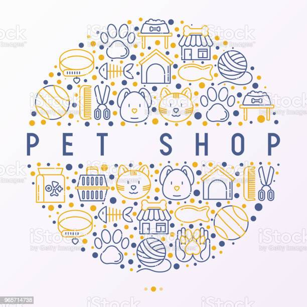 Pet shop concept in circle with thin line icons cat dog collar kennel vector id965714738?b=1&k=6&m=965714738&s=612x612&h= fya5vuhk 6k50jjqd9fz45euymuz27vls99fstw zy=