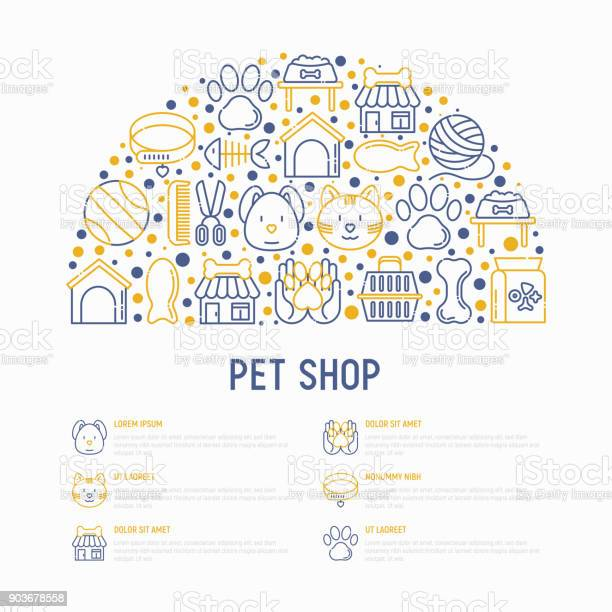 Pet shop concept in half circle with thin line icons cat dog collar vector id903678558?b=1&k=6&m=903678558&s=612x612&h=lzvtvgszfzbxdyzqigfc1oubg7v3q zhh7ksiudrz i=