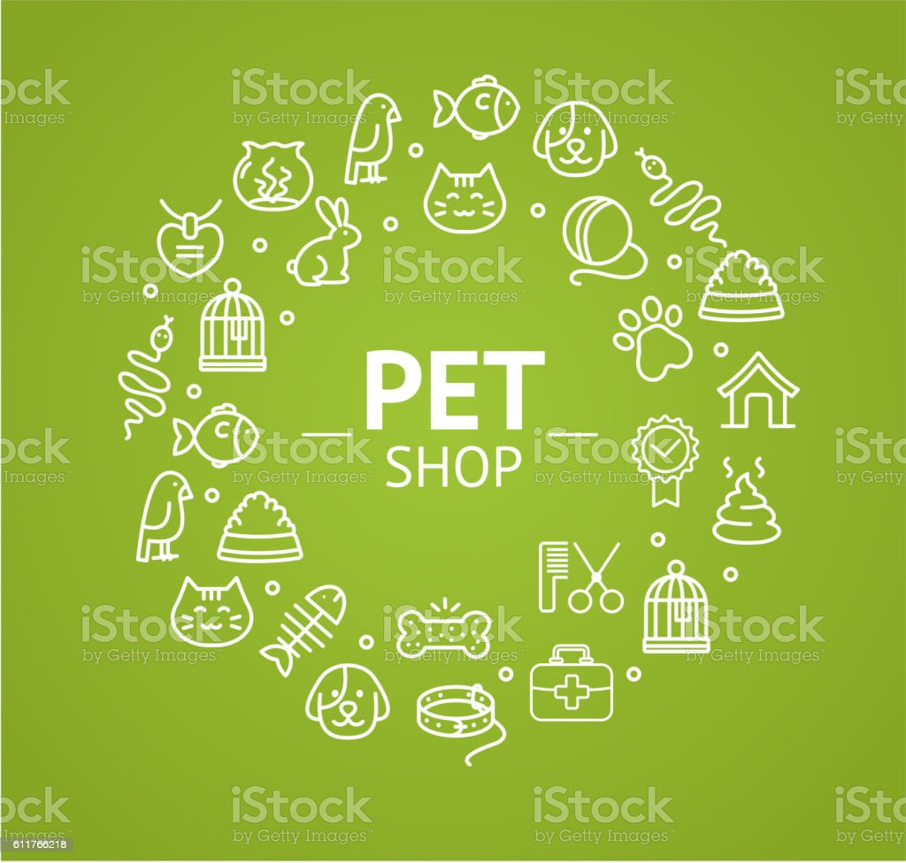 Pet Shop Concept. Vector vector art illustration