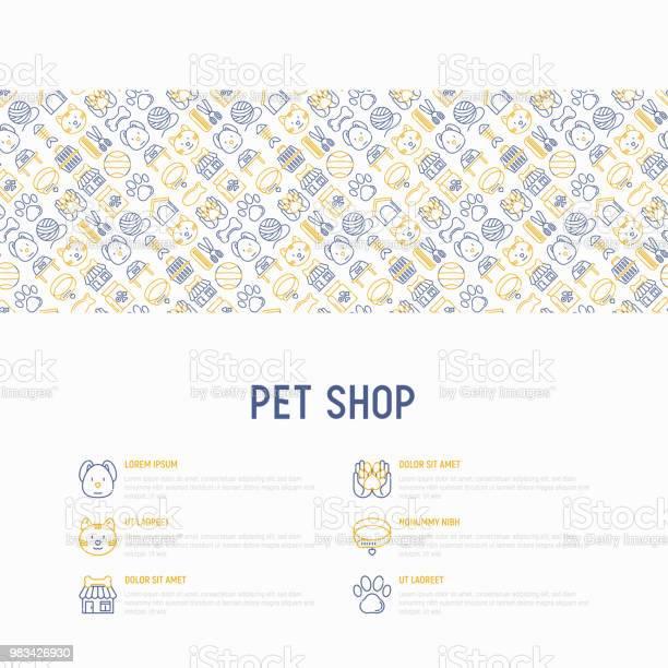 Pet shop concept with thin line icons cat dog collar kennel grooming vector id983426930?b=1&k=6&m=983426930&s=612x612&h=9b0jnps4cfklkarygui338wtirvxp hu npqk8x57fc=