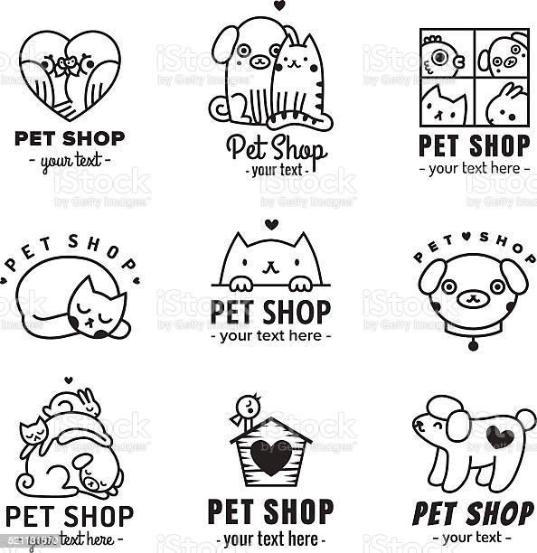 Pet shop cute logos black vector set vector id521131570?b=1&k=6&m=521131570&s=612x612&h=w4qubtnamro eburhhoob30kqs66ju agkwj3l0pery=
