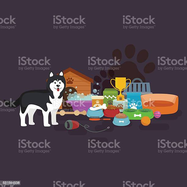 Pet shop dog goods and supplies store products for care vector id531544538?b=1&k=6&m=531544538&s=612x612&h=wvwi4g3prceuv1cmrdwreqzi45kqggh7iysmd5dn508=