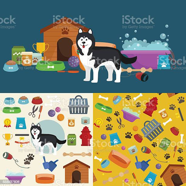 Pet shop dog goods and supplies store products for care vector id533337606?b=1&k=6&m=533337606&s=612x612&h=viadobisdkqorkjkerkvdepb1bdt3wzyxvekpq45ube=