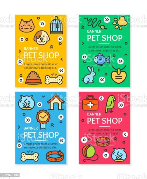 Pet shop flyer banner placard set vector vector id672872194?b=1&k=6&m=672872194&s=612x612&h=lje1w0nqtvuewp2bggciz0fbxtlpibm2i9fcn7z7fmg=