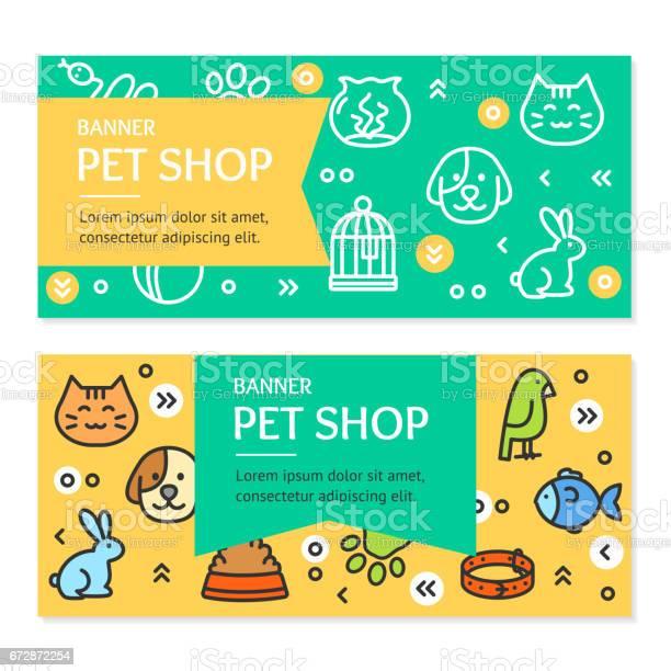 Pet shop flyer banner placard set vector vector id672872254?b=1&k=6&m=672872254&s=612x612&h=huuugrusn a0dnj3o4ushxtnbxgwbycuaduaeduavpy=