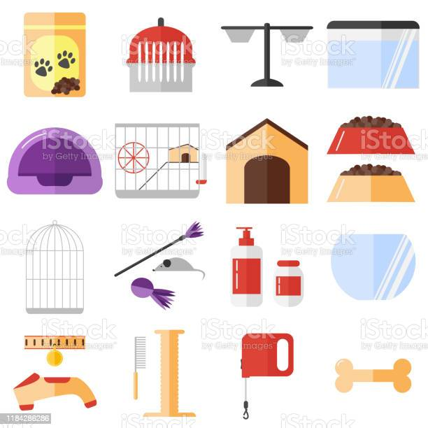 Pet shop icons set isolated objects on white background vector id1184286286?b=1&k=6&m=1184286286&s=612x612&h=lg elgfvdjs6 7henfsahjrtd6lxzqfktlsjudkv488=