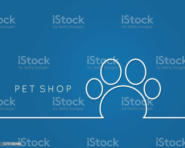 Pet shop logo linear pet paw on blue background vector id1070165494?b=1&k=6&m=1070165494&s=612x612&h=urxfcc8bwzjat73sag8t4dhiqcywm3ngum1gfffqxb4=