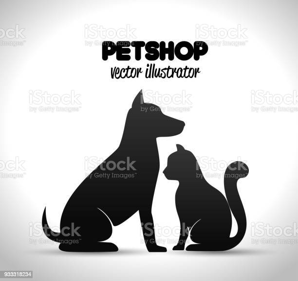 Pet shop poster dog and cat silhouette vector id933318234?b=1&k=6&m=933318234&s=612x612&h=u29grrkh6goy5n8 taewamcar5 ia me8wwbxhcywwm=
