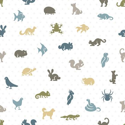 Pet Shop Seamless Pattern