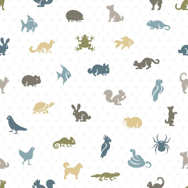 Pet Shop Seamless Pattern Pet Shop Seamless Pattern animal markings stock illustrations