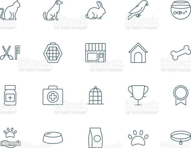 Pet shop set of vector icons vector id806765864?b=1&k=6&m=806765864&s=612x612&h=edsh fafcsrti4hco pbni17gvw1an243s6ce3eyn i=