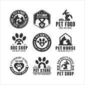 Pet shop vector design  collection