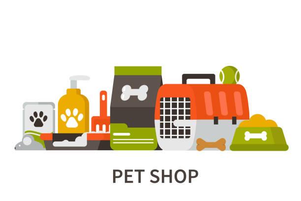 ペットショップ - ペットショップ点のイラスト素材/クリップアート素材/マンガ素材/アイコン素材