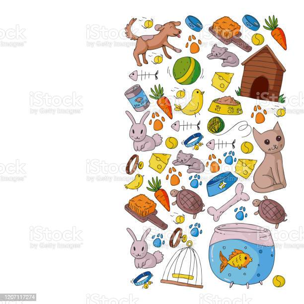 Pet shop vector illustration with animals dog cat fish colorful with vector id1207117274?b=1&k=6&m=1207117274&s=612x612&h=zgljzmc1fxiwl9i9358alwpia57w9 m idjwbjs4hvq=