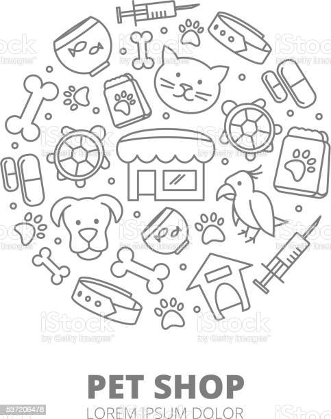 Pet shop vector logo with linear icons of cats dogs vector id537206478?b=1&k=6&m=537206478&s=612x612&h=5vxnyzzzxz2b6m9ez7iigmeudzyi1s ch8cyf1rnsfe=