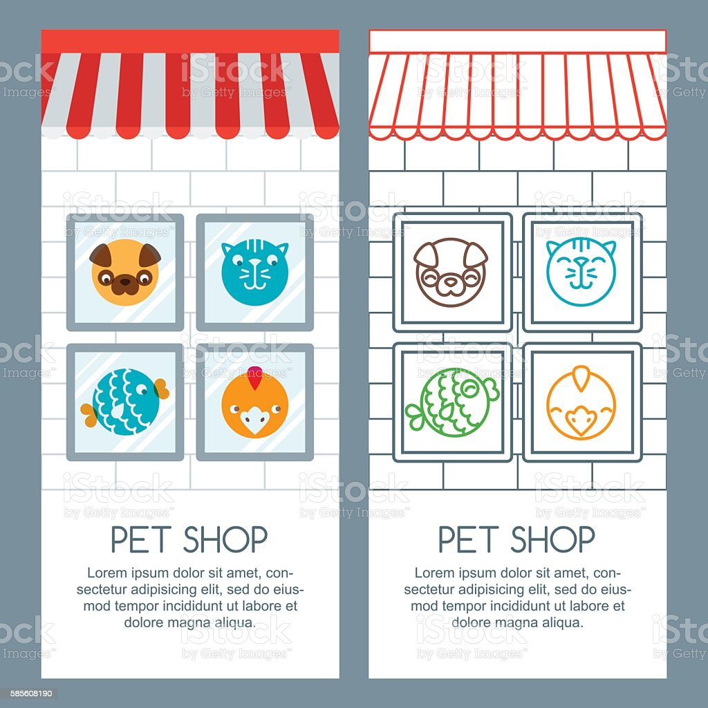 pet shop veterinary concept vector banner poster or flyer template