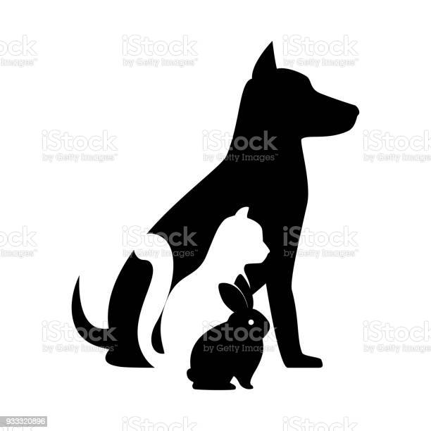 Pet shop veterinary sign silhouette dog cat bunny vector id933320896?b=1&k=6&m=933320896&s=612x612&h=vl9hw9nsytqfeyzlhukzdkc b7nh2lnk88q2mq2fhpw=