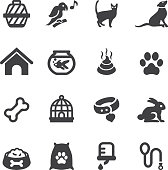 Pet Silhouette Icons | EPS10