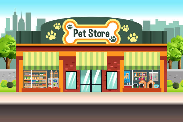 Pet Store Illustration vector art illustration