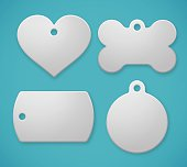istock Pet Tags and Dog Tags 594468328