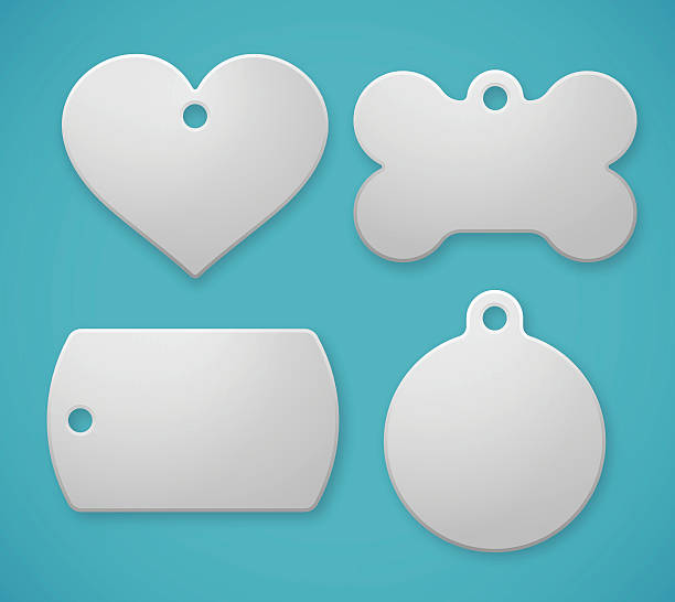 pet tags and dog tags - pets stock illustrations, clip art, cartoons, & icons