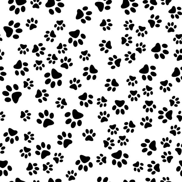 pet trace seamless - animals background stock illustrations