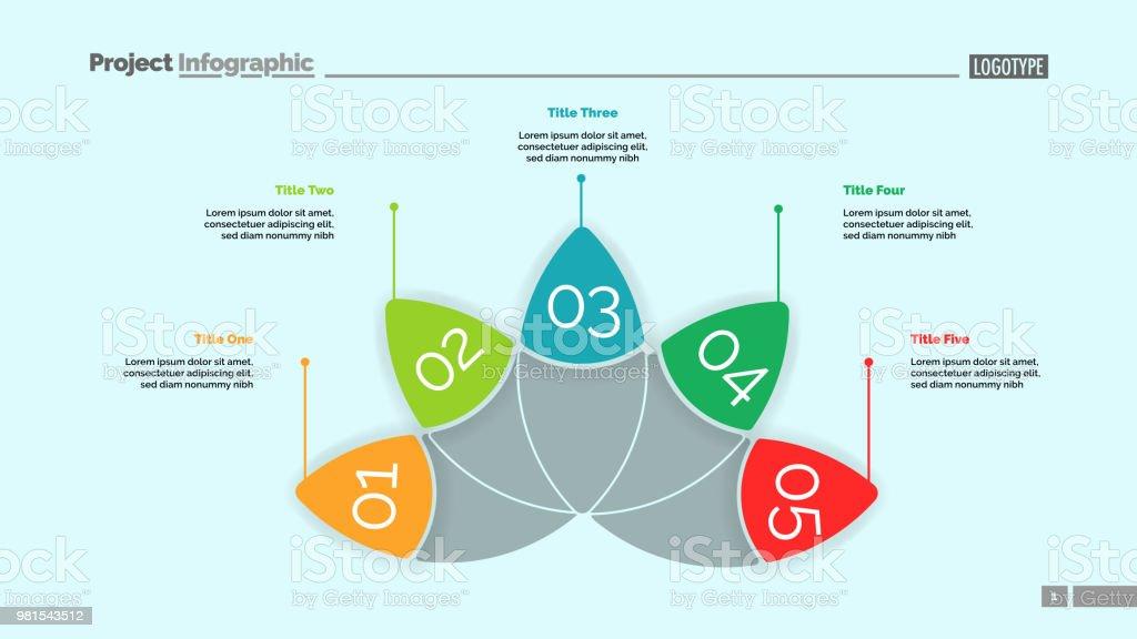 Petal Diagram With Five Elements Template Stock Vector Art & More ...
