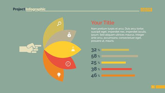 Petals Percentage Chart Slide Template