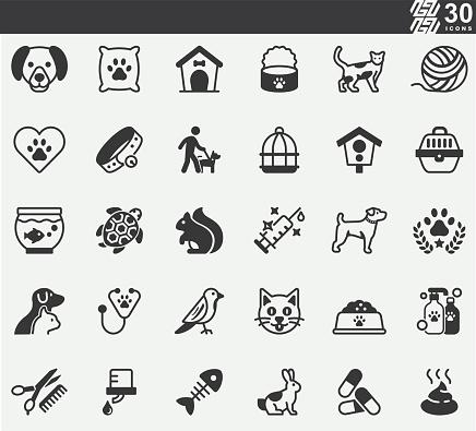 Pet,Pet Shop Silhouette Icons