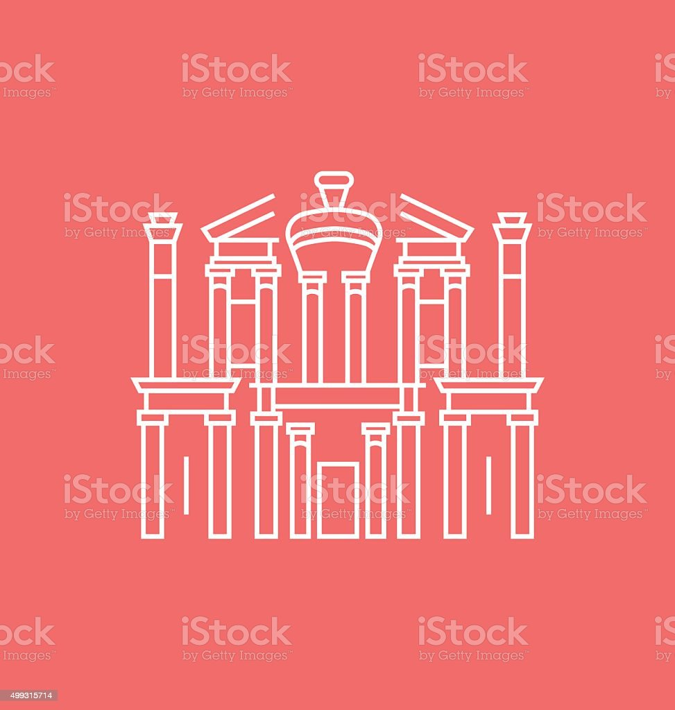 Petra colored icon Illustration vector art illustration