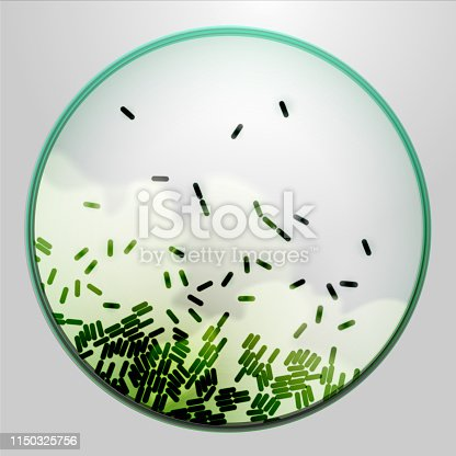 istock Petri dish with agar and bacteria 1150325756