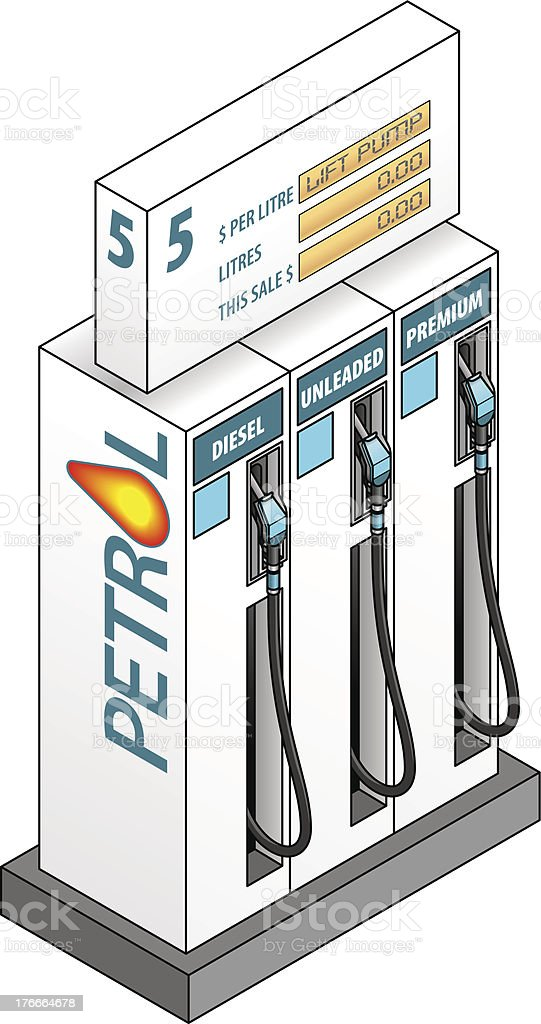 Petrol Pumps royalty-free petrol pumps stock vector art & more images of car