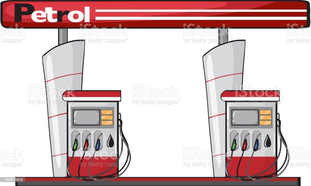 Petrol station royalty-free stock vector art